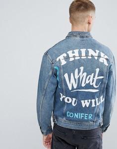 Джинсовая оверсайз-куртка Lee X Conifer - Синий
