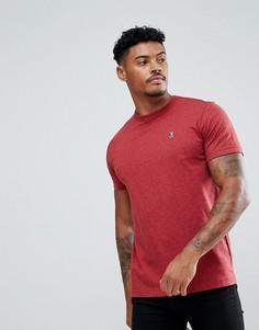 Красная меланжевая футболка классического кроя с круглым вырезом Psycho Bunny - Красный