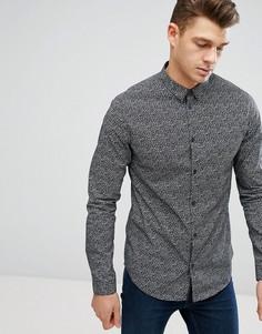 Темно-серая рубашка с принтом New Look - Серый