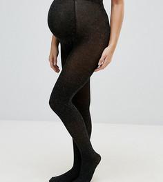 Блестящие колготки Mamalicious - Черный Mama.Licious