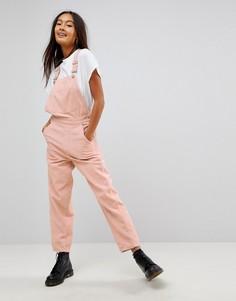 Светло-розовый вельветовый комбинезон ASOS - Розовый