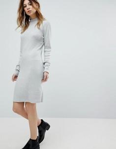 Трикотажное платье с высоким воротом Noisy May - Серый