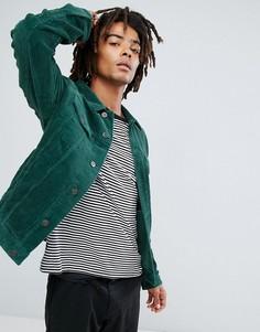 Зеленая вельветовая куртка ASOS - Зеленый