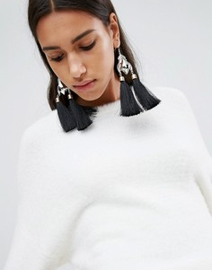 Металлические серьги-кисточки в винтажном стиле ASOS - Мульти