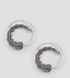 Серьги-кольца Reclaimed Vintage Inspired - Серебряный
