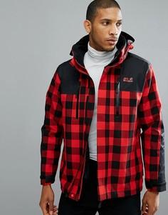 Красная куртка в клетку 3 в 1 Jack Wolfskin Timberwolf - Красный