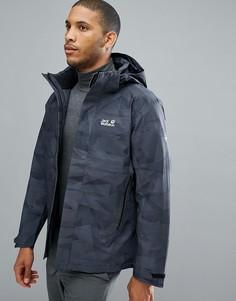 Черная куртка с камуфляжным принтом Jack Wolfskin Mountain Edge - Черный