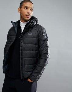 Черная дутая куртка Jack Wolfskin Helium - Черный
