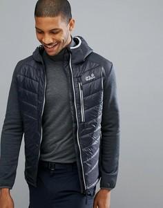 Черная с серым лыжная куртка Jack Wolfskin Skiland - Серый