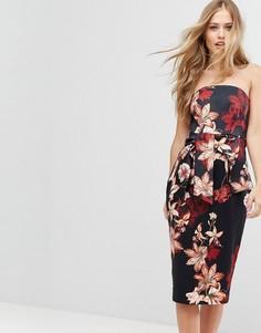 Структурированное платье миди с завязкой Forever New - Мульти
