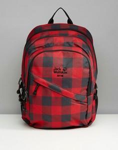 Красный рюкзак в клетку Jack Wolfskin Dayton - Красный