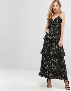 Платье макси с оборками Forever - Мульти