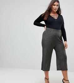 Широкие брюки с блестками цвета металлик ASOS CURVE - Золотой