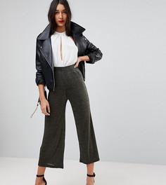 Широкие брюки с блестками цвета металлик ASOS TALL - Золотой