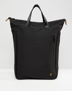 Черный рюкзак с молнией сверху Farah Bennett - Черный