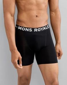 Боксеры-брифы из мериносовой шерсти Mons Royale - Черный