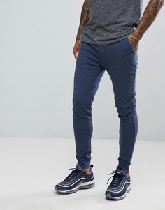 Супероблегающие джоггеры джинсового цвета ASOS - Синий