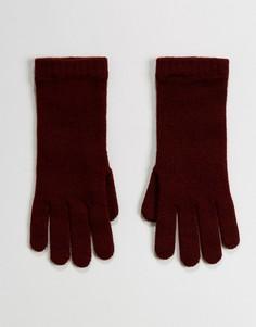 Перчатки ягодного цвета из 100% кашемира Johnstons of Elgin - Красный