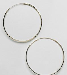 Серьги-кольца 60 мм из позолоченного серебра ASOS - Золотой
