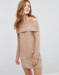 Платье-джемпер с открытыми плечами Only - Рыжий