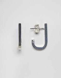 Серьги-гвоздики U-образной формы Weekday - Серебряный