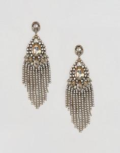 Броские серьги-подвески с камнями ALDO - Медный
