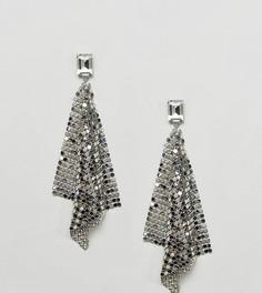 Серебристые серьги с подвеской в форме кольчуги ALDO - Серебряный