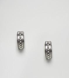 Серебряные миниатюрные серьги-кольца с шариками ASOS - Серебряный