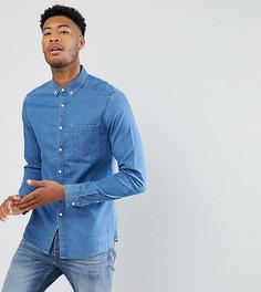 Эластичная джинсовая рубашка ASOS TALL - Синий