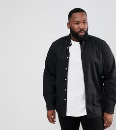 Черная узкая джинсовая рубашка ASOS PLUS - Черный