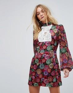 Платье мини с принтом Millie Mackintosh - Мульти