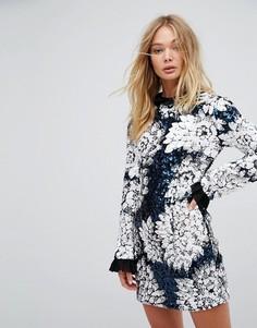 Декорированное платье мини с оборками Millie Mackintosh - Мульти