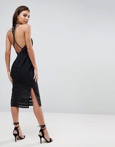 Платье-футляр с открытой спиной Finders Keepers Brixton - Черный