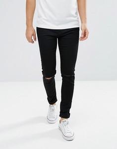 Черные джинсы скинни Weekday Friday Wow - Черный