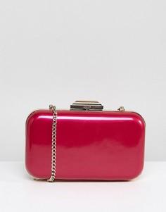 Розовый клатч цвета металлик с ремешком-цепочкой Dune - Розовый