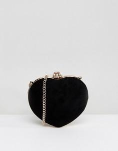 Черная сумка в форме сердца Dune - Черный