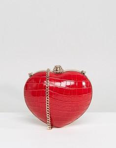 Красная сумка в форме сердца Dune - Красный