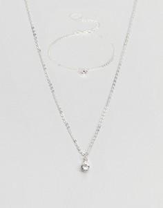 Подарочный набор с ожерельем и браслетом Johnny Loves Rosie - Серебряный