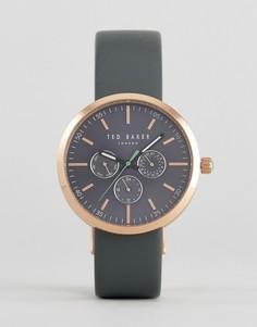 Серые часы с кожаным ремешком Ted Baker Jack - Серый