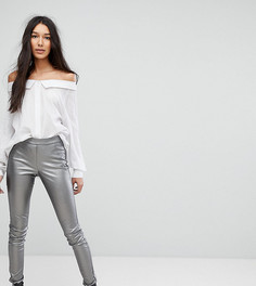Блестящие леггинсы Vero Moda Tall - Серебряный