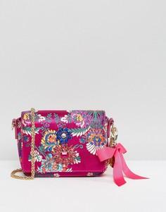 Сумка через плечо с вышивкой Faith - Розовый