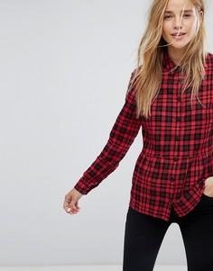 Рубашка в клетку с баской Jack Wills - Красный