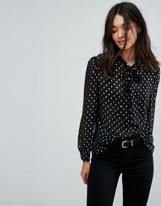 Блузка с принтом Jack Wills - Черный