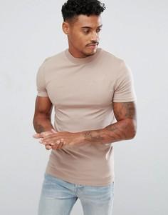 Обтягивающая футболка ASOS - Бежевый