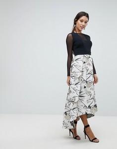 Платье с фактурной юбкой Coast Avery - Серебряный