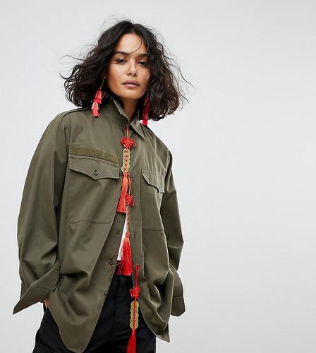 Куртка-рубашка в стиле милитари с отделкой Reclaimed Vintage Revived - Зеленый