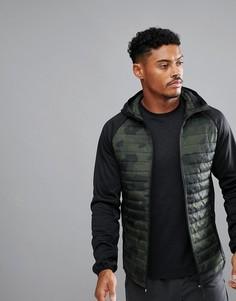 Камуфляжная стеганая куртка Jack & Jones Tech - Зеленый