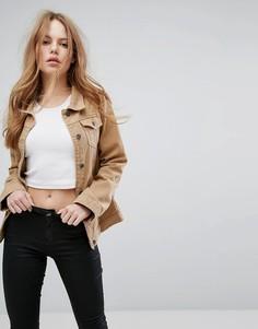 Светло-коричневая джинсовая куртка герлфренд Liquor N Poker - Рыжий