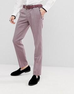 Супероблегающие брюки в стиле смокинга Noose & Monkey - Фиолетовый