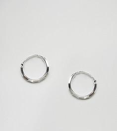 Серебряные ограненные серьги-кольца ASOS - Серебряный